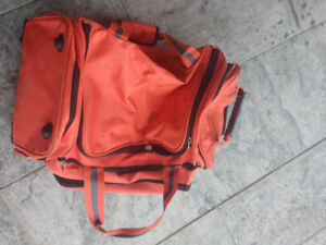 Polo Sport Ralph Lauren Orange Rolling Luggage Bag Carry On Duff