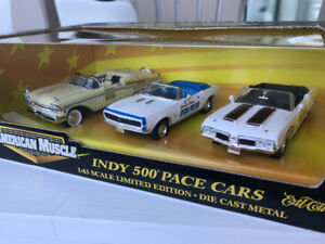 Ertl 1/43 scale Indy 500 pace cars 3  pack  Diecast models