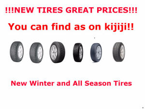 New Winter and All Season Tires and Rims  - Great Prices!!!!