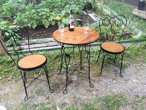 3 Piece Antique Ice Cream Parlor Set