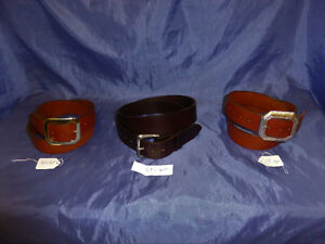 3 Leather Belts, 1 Wallet and 2 Cellphone Cases handmade