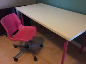 IKEA desk & chair