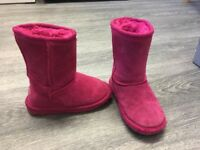 Kids Pink Boots - size 7