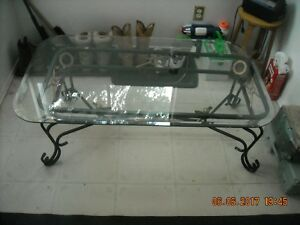 Nice Blk,Gold Iron Glass coffee Table 4 Sale!