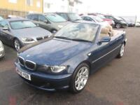 2005 BMW 3 Series 320 Convertible 2.2i 170 SE A5 Petrol blue Automatic
