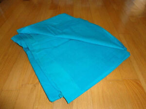 Piece of blue corduroy fabric sewing crafts