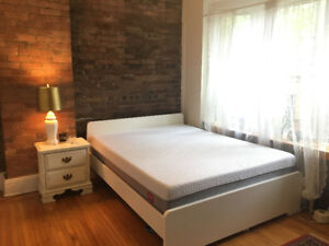 Almost brand new Queen size Endy Mattress + IKEA Bed frame