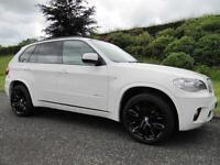 2010 BMW X5 xDrive40d M Sport **TWIN TURBO**7 SEATS**306 BHP**ALPINE WHITE**