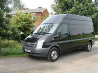 2012 FORD TRANSIT TDCI (125ps)(EU5) LWB - H/ROOF - FSH - PANTHER BLACK -