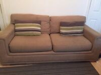 3 seater sofa good condition brown
