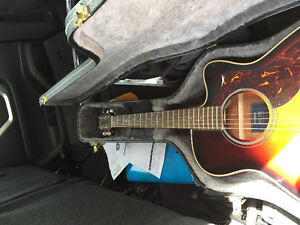 Yamaha acoustic with amp and hard case