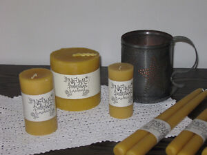 100% Natural Beeswax Candles Kitchener / Waterloo Kitchener Area image 2