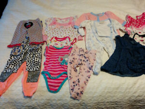 Lot of baby girl clothes 6-12 months