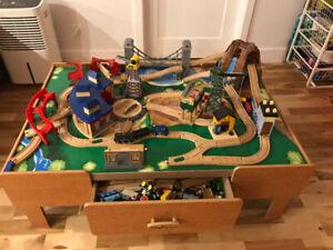 Table Imaginarium & ensemble complet de trains