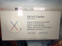 """MacBook Pro 15"""" Retina 2.3Ghz i7 16GB Ram, 512GB SSD, 2GB 750M rrp £1999"""