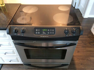 Stainless Steel/Black Frigidaire Stove for sale