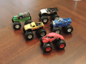 Lot of 5 Hot Wheels Monster Trucks -Excellent Condition