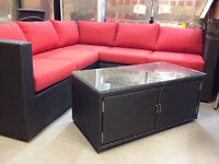 END OF SEASON CLEARANCE ON OUTDOOR SECTIONALS!!