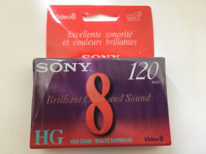 Sony HG P6-120 high grade 8mm video cassette