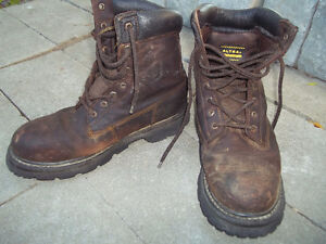 Men's Hard Steel Toe Leather Work Boots
