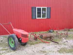 Vintage Garden Tractor and Implements