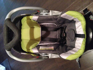 Infant car seat with adaptor