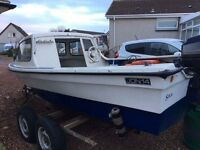 14ft Dejon fishing boat with 20hp outboard