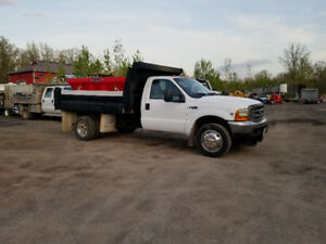 1999 Ford F-550 with Boss plow