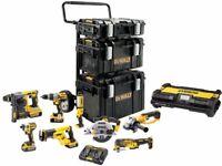 DEWALT 7 Power tool SetPiece Mega Kit Drill Saw Grinder Driver Multi Tool Light Bulk Buy Pack