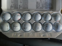 Golf Balls, Near New to Well Used
