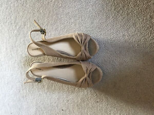 Tan wedges for sale!