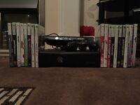 XBox 360 with Kinect and 18 games