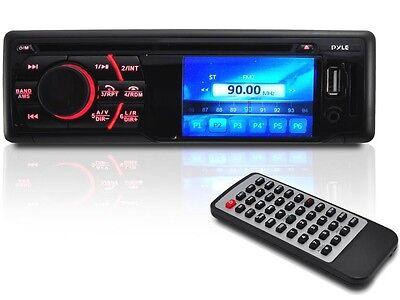"""Pyle PLD34MUB 3"""" LCD In-Dash DVD/CD/MP3 AM/FM Car Receiver Bluetooth +USB/SD/AUX"""