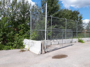 Chain Link Fencing & Cement Blocks