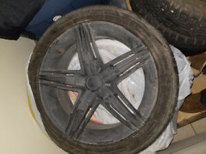 Three 17 inch rims with tires -OZ David -Cooper RS3A 215-45-17