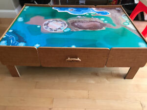 $20 - imaginarium train table with 2 drawers