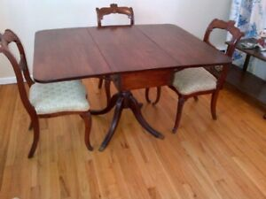 DUNCAN PHYFFE STYLE TABLE AND CHAIRS