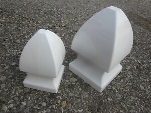 NEW!! 29 Pieces PVC Gothic Fence Tops + PVC Cement Glue