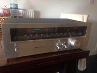 Vintage tuner Pioneer TX-608L, blue line series