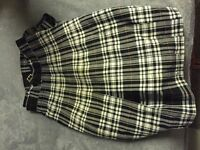 Medium black and white kilt