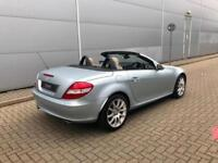 2007 57 reg Mercedes-Benz SLK350 3.5 7G-Trinic + BLUE + CREAM LEATHER +HUGE SPEC