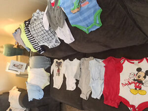 Baby boy clothes/car seat & mats