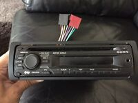 Sony stereo with front aux port