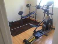 Livestrong LS8.0E Elliptical & weight bench with weights