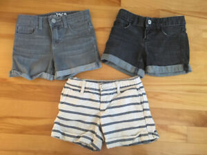 Shorts fille et jupe taille 6