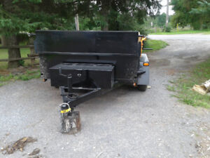 3 ton 2018 1 axle hydraulic trailer for rent