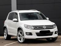 "(63 Reg) Volkswagen Tiguan 2.0 TDi BlueMotion R Line DSG White 19"" alloys"