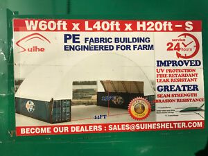 Heavy Duty 60x40 Double Truss Seacan Container Shelter