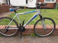Mountain bike with front suspension