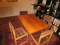 Teak Table + Chairs